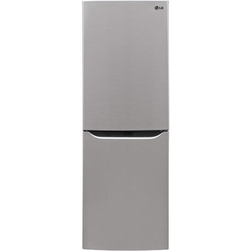 LG 10.1-cu ft Bottom-Freezer Refrigerator (Platinum Silver) LBN10551PS