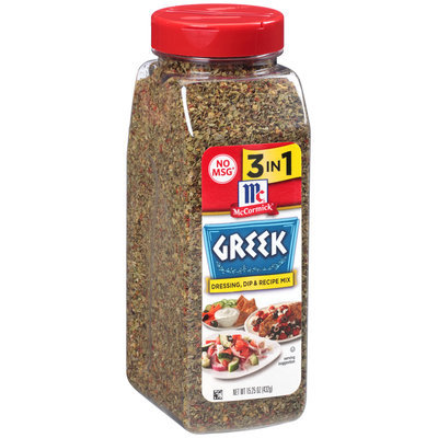 McCormick® Greek Dressing, Dip & Recipe Mix 15.25 oz. Container