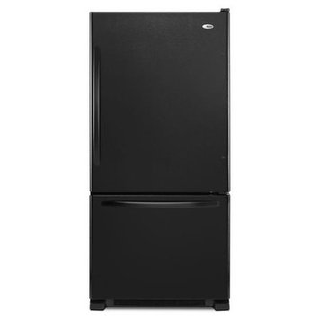 Amana 22.07 Cu. Ft. Bottom Freezer Refrigerator - Black