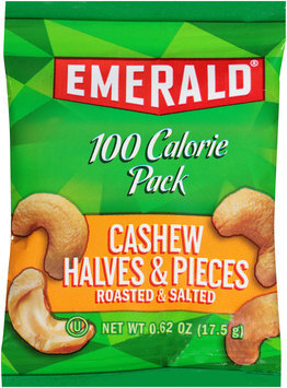 Emerald® 100 Calorie Pack Roasted & Salted Cashew Halves & Pieces 0.62 oz. Pouch