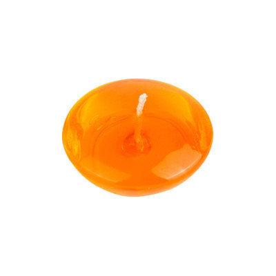 Zest Candle 3 Clear Orange Gel Floating Candles