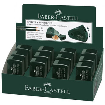 Faber-Castell FC582800D CASTELL 9000 Double-Hole Sharpener Display