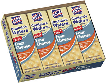 Lance Captain's Wafers Four Cheese Sandwich Crackers 8 Ct Tray