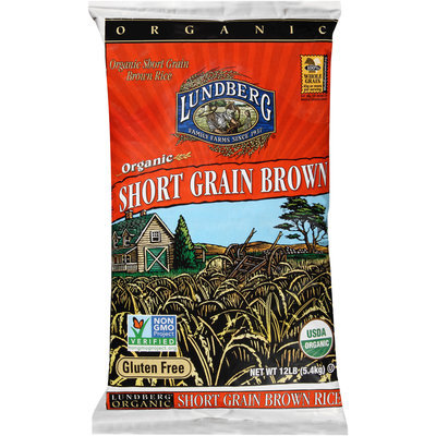 Lundberg® Organic Short Grain Brown Rice 12 lb. Bag