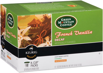 Green Mountain Coffee® French Vanilla Decaf Light Roast Coffee K-Cup Packs 12 ct Box