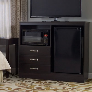 Lang Furniture No Da Built-In Combination Mini Refrigerator and Microwave