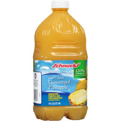 Schnucks® Unsweetened 100% Pineapple Juice 64 fl. oz. Bottle