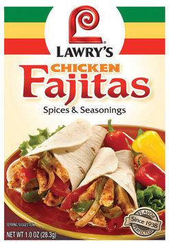 Dry Seasoning Chicken Fajitas Lawry's Spices & Seasonings 1 Oz Packet