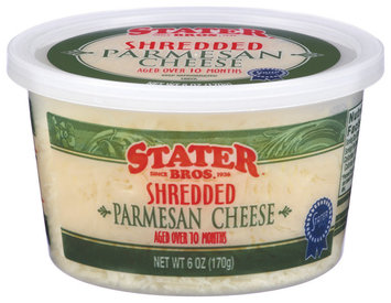 Stater Bros. Parmesan Shredded Cheese 6 Oz Tub