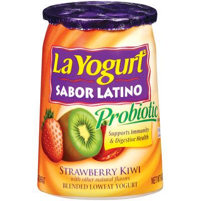 La Yogurt Probiotic Strawberry Kiwi Blended Lowfat Yogurt Sabor Latino 6 Oz Cup