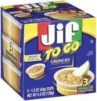 Jif® To Go™ Crunchy Peanut Butter 1.5 oz 3 ct