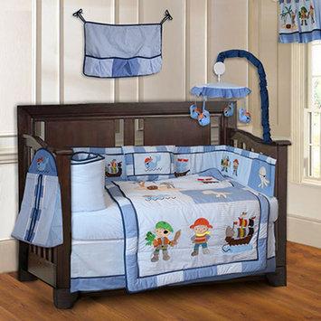 Babyfad Pirates Boys Baby 10 Piece Crib Bedding Set
