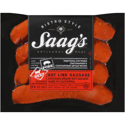 Saag's™ Bistro Style Hot Link Sausage 12 oz. Package