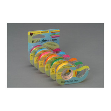 Lee Products 17411 Fluorescent Highlighter Tape .5 in. x 393 in. -Fluorescent Green
