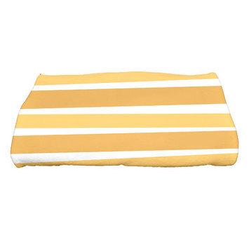 The Holiday Aisle Stripes Bath Towel Color: Gold