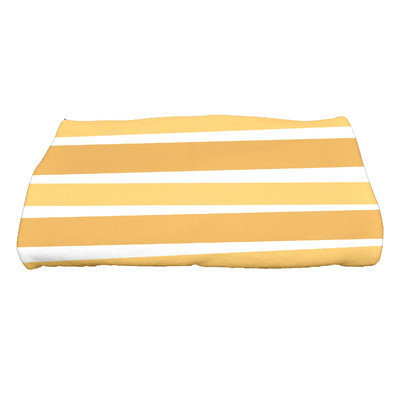 The Holiday Aisle Stripes Bath Towel Color: Gold