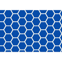 Stwd Honeycomb Travel Crib Light Fitted Sheet Color: Royal Blue