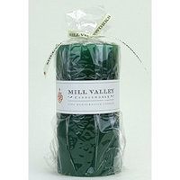 Mill Valley Candleworks Evergreen Scented Pillar Candle Size: 6