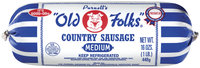 Purnell's Old Folks Medium Country Sausage