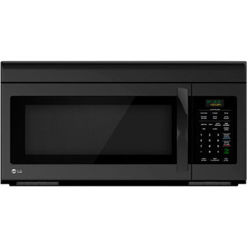 LG - 16 Cu Ft Over-the-Range Microwave - Smooth Black