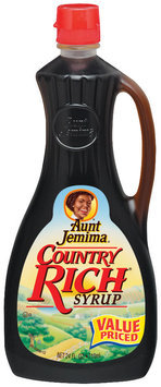 Aunt Jemima Country Rich Syrup 24 Fl Oz Bottle