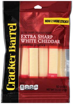 Cracker Barrel Extra Sharp White Cheddar Cheese Sticks 10 ct Bag