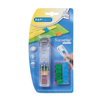 Rapesco Supaclip 40 Disp Coloured A25B