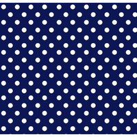 Stwd Primary Polka Dots Woven Mini Fitted Sheet Color: Navy