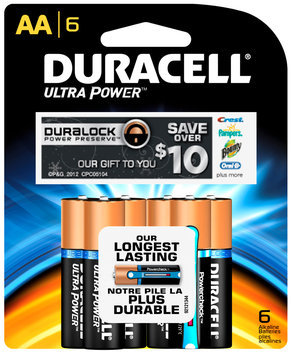 Duracell Ultra Power AA Batteries 6 ct Package