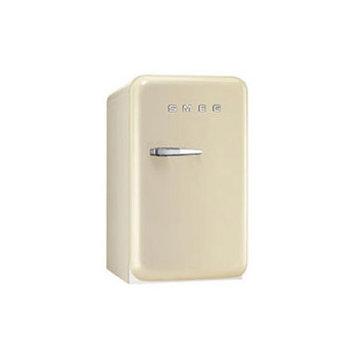 Smeg FAB5ULP 1.5 Cu. Ft. Cream Undercounter Compact Refrigerator - Left Hinge