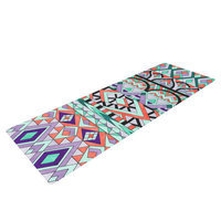 Kess Inhouse Tribal Invasion by Pom Graphic Design Abstract Yoga Mat