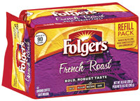 Folgers French Roast Medium-Dark Refill Pack Ground Coffee 10.3 Oz Brick