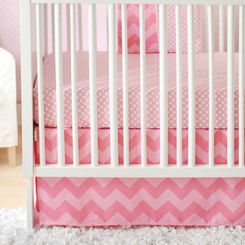 New Arrivals Zig Zag Baby 3 Piece Crib Bedding Set Color: Pink Sugar