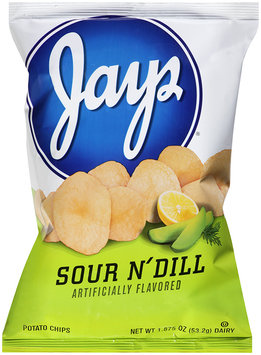 Jay's® Sour N' Dill Flavored Potato Chips 1.875 oz. Bag