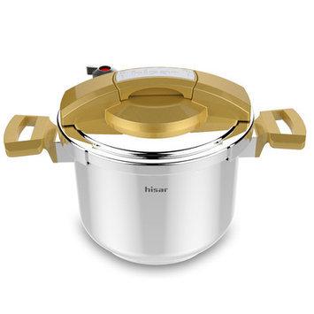 Hisr Neptun 6.3-Quart Pressure Cooker Color: Gold