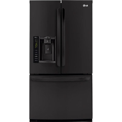 Lg - 24.7 Cu. Ft. French Door Refrigerator With Thru-the-door Ice And Water - Black