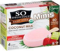 So Delicious® Dairy Free Coconut Milk Minis Simply Strawberry Non-Dairy Frozen Dessert Bars 4-2.3 fl. oz. Bars