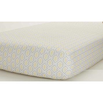 Just Born Sleep Well Yellow/Gray Print Fitted Crib Sheet
