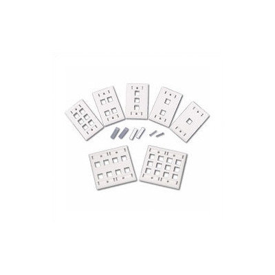 Cables to Go Multiple-Port Multimedia Keystone Wall Plate - White (Set of 4)