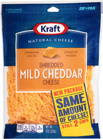 Kraft Shredded Mild Cheddar Cheese ZIP-PAK®