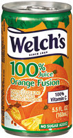 Welch's Single Serve Orange Fusion, Modified 6/23/09 100% Juice 5.5 Oz Can