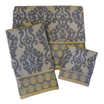 Waverly Luminary Border Jacquard Towel Set