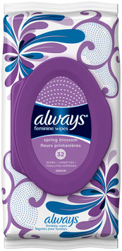 Wipes Always Feminine Wipes Spring Blossom Scent 32 Count