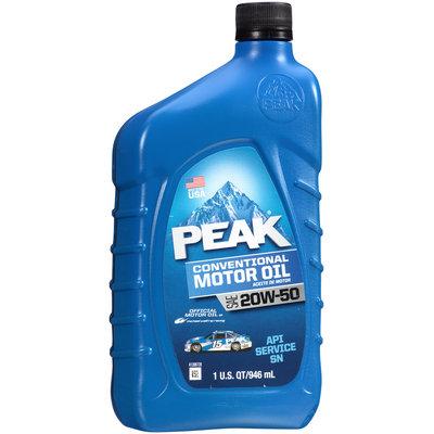 Peak® SAE 20W-50 Conventional Motor Oil 1 qt. Bottle