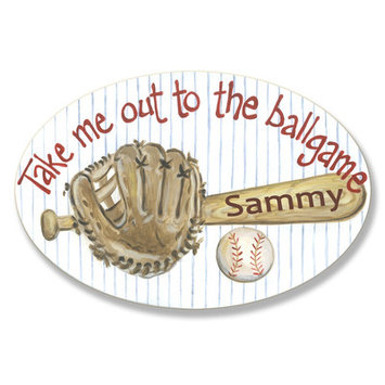 Stupell Industries Kids Room Personalization Base Ball Bat Wall Plaques