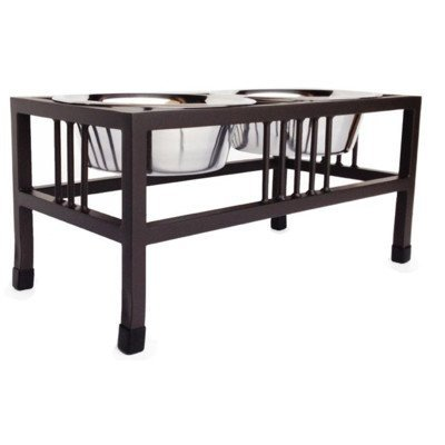 Pets Stop Baron Steel Double Diner Size: Small - 5