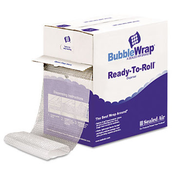 Sealed Air 90065 Bubble Wrap Strong Grade 1/2in Bubble 12inx65' Clear