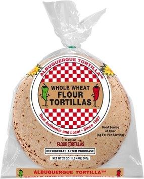 Albuquerque Tortilla™ Whole Wheat Flour Tortillas 20 oz. Bag