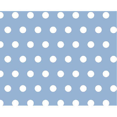 Stwd Polka Dots Portable Mini Fitted Crib Sheet Color: Blue