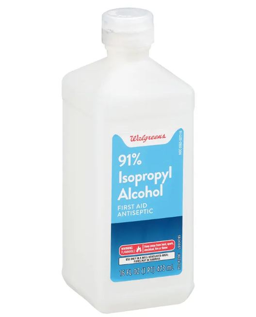 Walgreens 91% Isopropyl Alcohol First Aid Antiseptic
